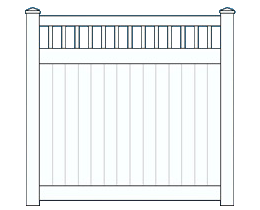 Picket Top fence