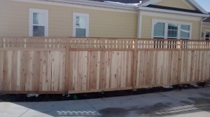 2a. Picket Top Cedar Fence