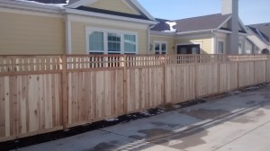 2b. Picket Top Cedar Fence