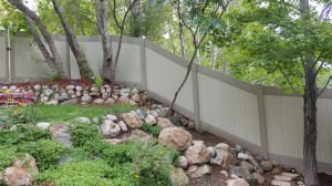 1c. Vinyl Fence, Adobe & Tan