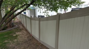 1h. Vinyl Fence, Adobe & Tan