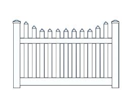 Arcadia New England Top Fence