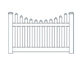 Arcadia Scallop Top Fence