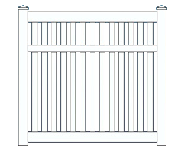 Belaire Medium Fence