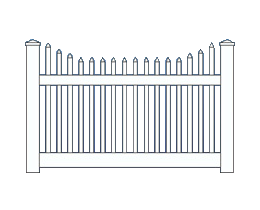 Wilshire New England Top Fence