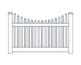 Wilshire Scalloped Top Fence